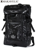"MAKAVELIC (マキャベリック) ""CHASE DOUBLE LINE BACKPACK BLACK EDITION"""